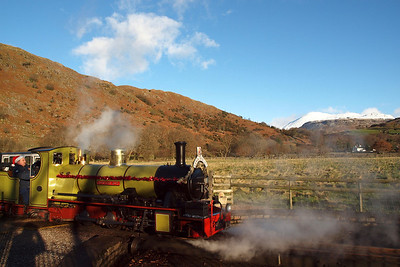 Northern Rock and Scafell at Dalegarth. 18/12/11.