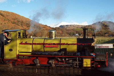 Northern Rock sits on Dalegarth turntable. 18/12/11.