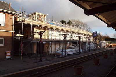 "A look at the new ""Turntable Café"" at Ravenglass, now in advanced stages of construction, 26/02/11."