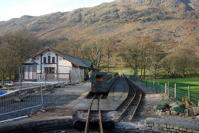 Dalegarth station, resembling a building site, 04/02/07.