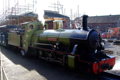 Northern Rock sits in Platform 1 at Ravenglass, 11/02/08.