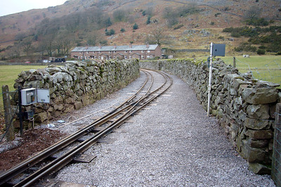 The new siding point at Dalegarth, 14/02/09.