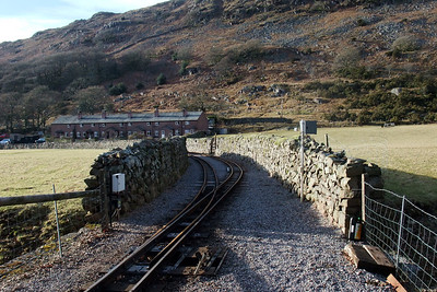 Relayed track at Dalegarth, between the walls. 27/02/10.