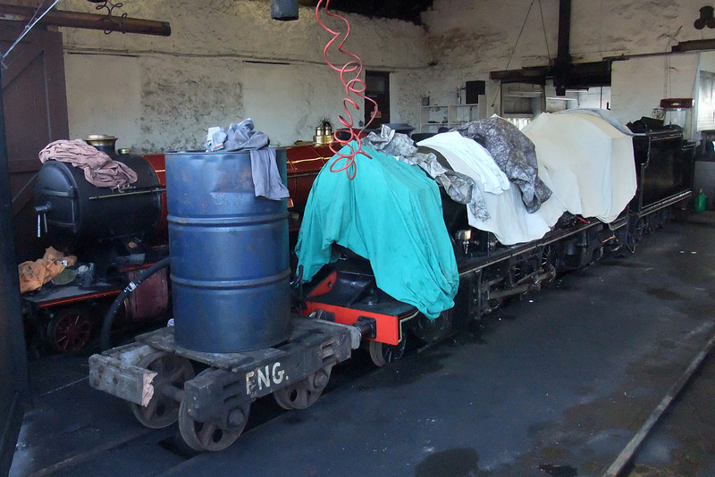 River Mite and River Esk, winterised in the engine shed at Ravenglass. 13/02/10.