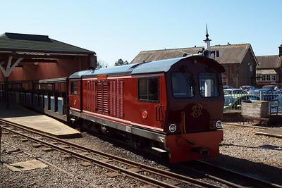 Douglas Ferreira with the 1230 at Ravenglass. 27/04/11.