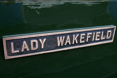 Lady Wakefield's nameplate.  02/05/08.