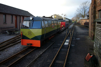 Shelagh of Eskdale and the p-way train back at Ravenglass, 21/01/07.