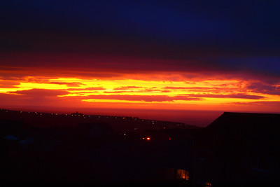 January sunset over the Irish Sea from Whitehaven. 20/01/12.