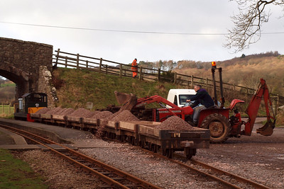 Another day, another ballast train needing replenishment... 22/01/12.
