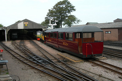 A view of Ravenglass carriage shed, with the old three-way point, 22/07/06.