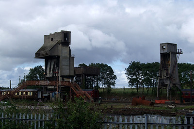 The coaling and ash towers of Carnforth, 12/07/08.