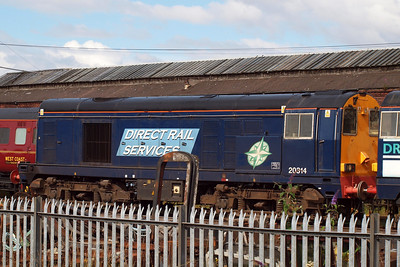 20314 displays the new DRS compass livery, though its fate now lies with Harry Needle of Barrow Hill. 23/07/11.