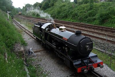 River Esk on the Barrow headshunt as the Royal Train approaches Ravenglass, 05/06/08.
