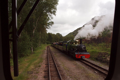 River Irt steaming into Miteside loop, seen from the cab of Douglas Ferreira. 06/06/11.