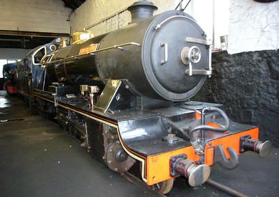 River Esk rests in Ravenglass engine shed, 04/03/07.