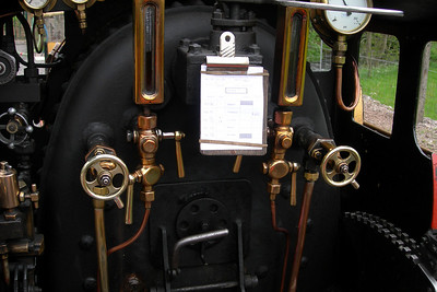 The footplate of River Mite, 18/05/06.