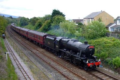 48151 Gauge O Guild arrives at Ravenglass with a Cumbrian Coast Dalesman charter, 28/05/07.