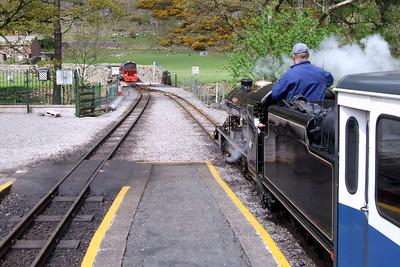 River Esk waits for Douglas Ferreira to arrive at Dalegarth, 03/05/09.