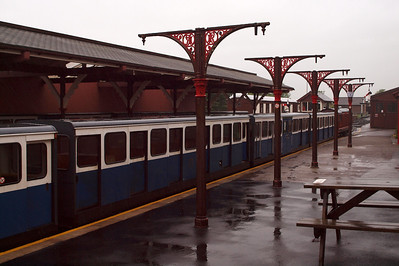 A damp and grey start to the day, as Douglas Ferreira's empty 0930 sits in Platform 1 at Ravenglass. 23/05/11.