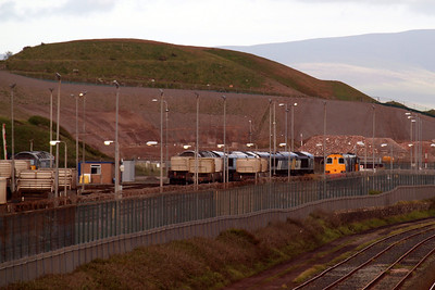 Sellafield, with 57008, 57009, 66423, 66434, 20303 and 20309 in attendance. 30/05/11.