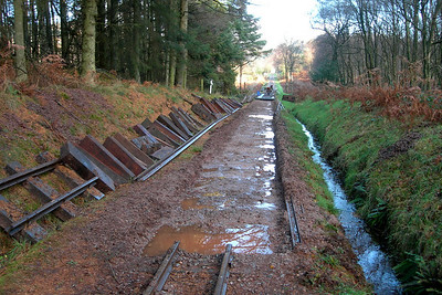 A look at the trackbed at Walk Mill, 26/11/06.