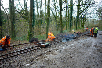 Relaying at Beckfoot well underway, 24/11/07.