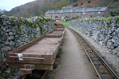 The rake of four-wheeled wagons in Dalegarth siding with Perkins, 17/11/07.