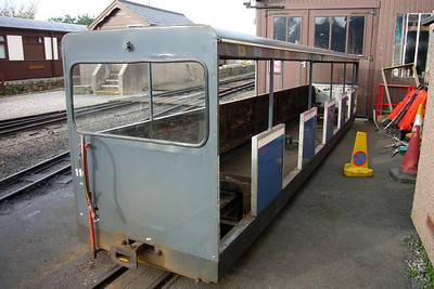 Semi-open coach 116, stripped down for rebuilding internally, 03/11/07.