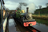 The late afternoon sun catches the front of River Irt as she leaves Irton Road with a down train, 14/11/09.