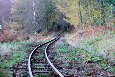 The roller-coaster ride towards the 3 milepost at the foot of Horsefalls Wood, 11/11/09.