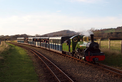 River Irt heads east through Irton Road with the 1350 from Ravenglass. 13/11/11.
