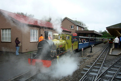 Northern Rock prepares to leave bound for Dalegarth with the railtour passengers, 13/10/07.