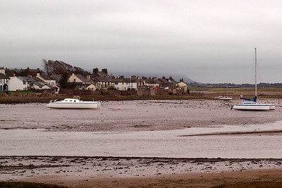 A brace of catamarans grace the estuary of the River Mite at Ravenglass, seen from Saltcoats. 08/10/11.