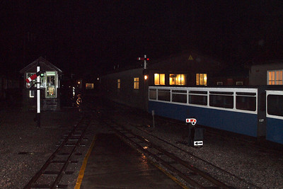A dark Ravenglass station. 08/10/11.
