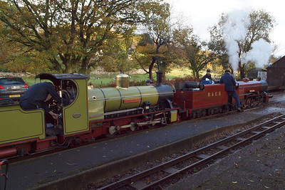 River Mite and Northern Rock at Irton Road, prior to the former being uncoupled, 29/10/12.