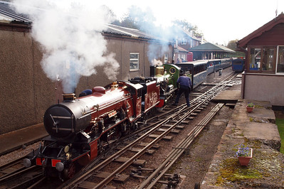 River Mite and River Irt prepare to depart from Ravenglass with the 1130 to Dalegarth, 29/10/12.