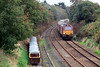 67003 approaches Ravenglass with the second Three Peaks charter of 2009, 18/09/09.