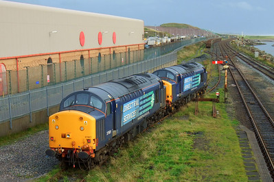 37601 and 37604 at Sellafield, 01/09/09.