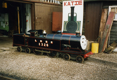 Blacolvesley, not long after arrival at Ravenglass, outside the C&W workshops, October 1994.