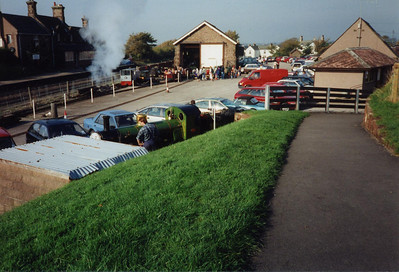 River Irt on the workshop curve and various diesel locomotives outside the fitters'.