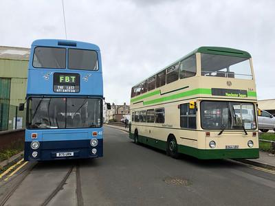 Two 1984 Leyland Buses