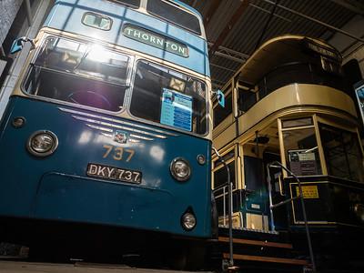 Bradford Trolleybus 737 and Bradford Tramcar 104