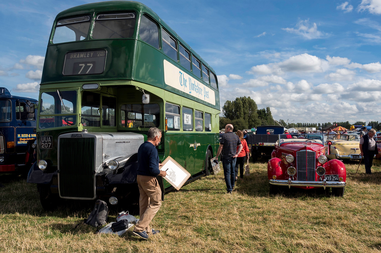 1955 Leyland Bus and 1937 Packard