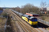 60021 passes Skellow Jnc at 12:51 on Thursday 9th March 2017 with the 08:55 Colas Ribble Rail - Lindsey Oil Refinery tanks.