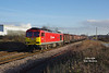 60019 passes Lowfield Lane, Melton, with the 6J94 12:25 Hedon Road Sidings - Rotherham Masborough steel hoods on Thursday 5th January 2017.