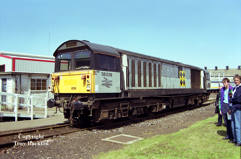 58039 Doncaster Works Open Day, July 12th 1992.