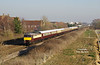 57601 heads the 1Z41 14:35 Hull - Leeds Northern Belle as the  working approaches Brough on Friday 15th February 2019.  56316 is attached to the rear.