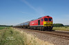 60020 passes Howsham with the 6M00 14:30 Humber Oil Refinery - Kingsbury Oil Sidings on the glorious afternoon of Tuesday 26th June 2018.