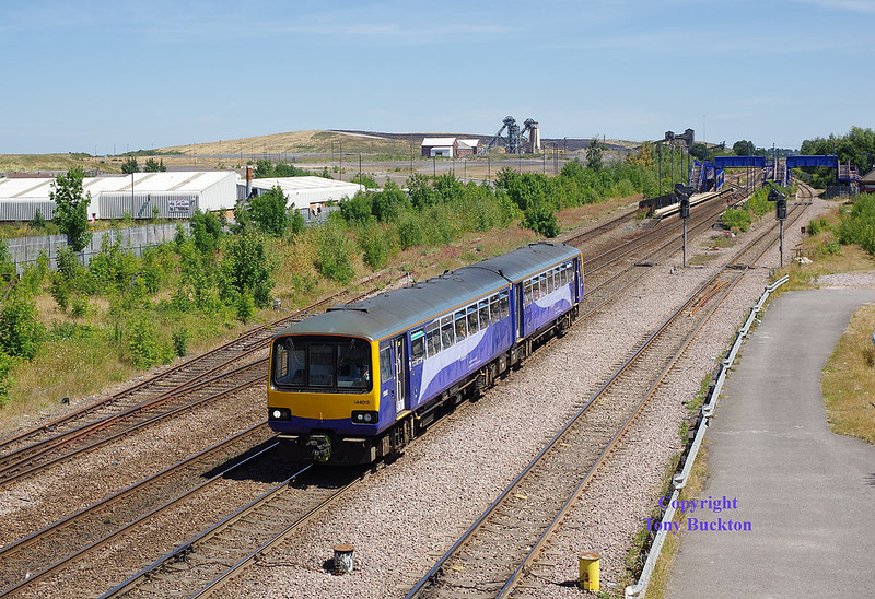 144012 departs Stainforth and Hatfield at 12:20 on Monday 2nd July 2018 with the 2P10 11:48 Scunthorpe - Doncaster.