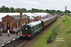 D8098 arrives at Quorn & Woodhouse at 14:59 on Friday 16th June 2017  with the 2D26 14:39 Swithland - Loughborough.